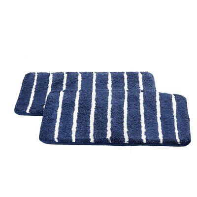 Chi Memory Foam Bath Rug Color: Navy