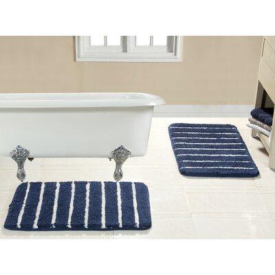 Brazier Memory Foam Bath Rug Color: Navy