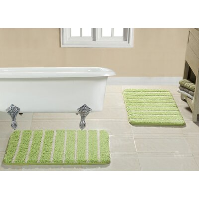 Brazier Memory Foam Bath Rug Color: Sage