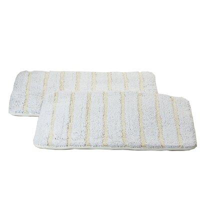 Chi Memory Foam Bath Rug Color: White