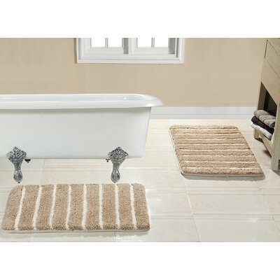 Brazier Memory Foam Bath Rug Color: Taupe
