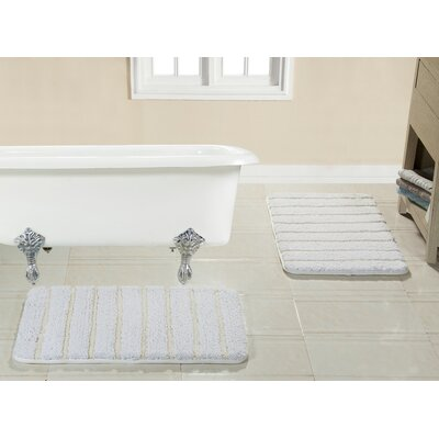 Brazier Memory Foam Bath Rug Color: White