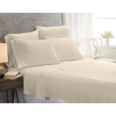 Cayetano Luxury Ultra Comfort Bed Sheet Set Size: Twin, Color: Ivory