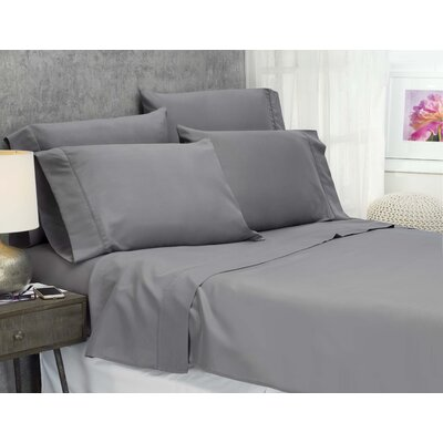 Cayetano Luxury Ultra Comfort Bed Sheet Set Size: Twin, Color: Grey