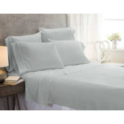 Cayetano Luxury Ultra Comfort Bed Sheet Set Size: King, Color: Silver