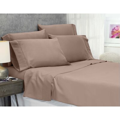 Cayetano Luxury Ultra Comfort Bed Sheet Set Size: Queen, Color: Taupe