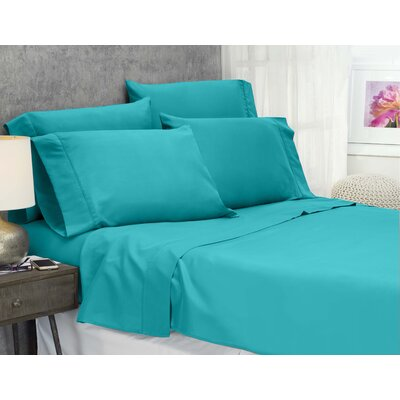Cayetano Luxury Ultra Comfort Bed Sheet Set Size: King, Color: Ceramic Blue