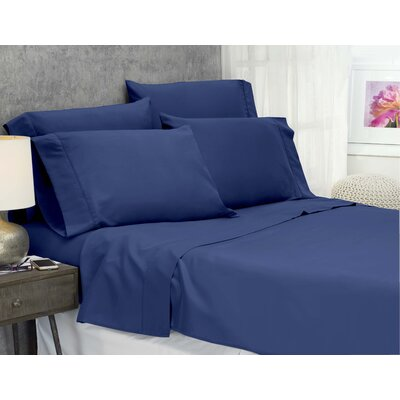 Cayetano Luxury Ultra Comfort Bed Sheet Set Size: King, Color: Navy