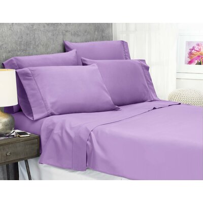 Cayetano Luxury Ultra Comfort Bed Sheet Set Size: Twin, Color: Lilac