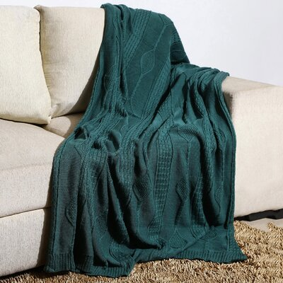 Winterstown Combed Cotton Throw Color: Deep Sea