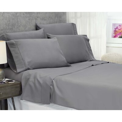 Cayetano Luxury Ultra Comfort Bed Sheet Set Size: King, Color: Grey