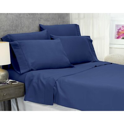 Cayetano Luxury Ultra Comfort Bed Sheet Set Size: Full-Double, Color: Navy
