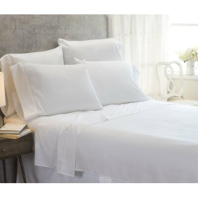 Cayetano Luxury Ultra Comfort Bed Sheet Set Size: King, Color: White