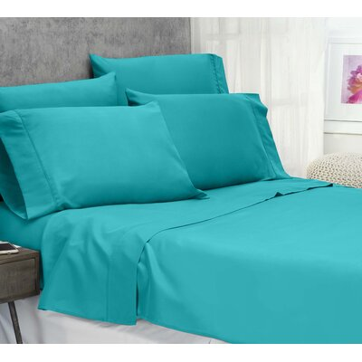 Cayetano Luxury Ultra Comfort Bed Sheet Set Size: Queen, Color: Ceramic Blue