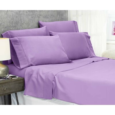 Cayetano Luxury Ultra Comfort Bed Sheet Set Size: King, Color: Lilac