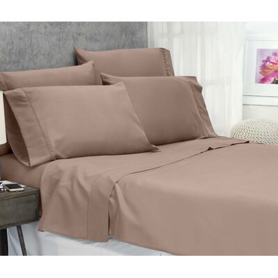 Cayetano Luxury Ultra Comfort Bed Sheet Set Size: Full-Double, Color: Taupe