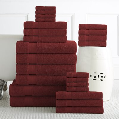 24 Piece Towel Set Color: Biking Red