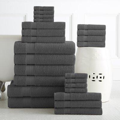 24 Piece Towel Set Color: Grey
