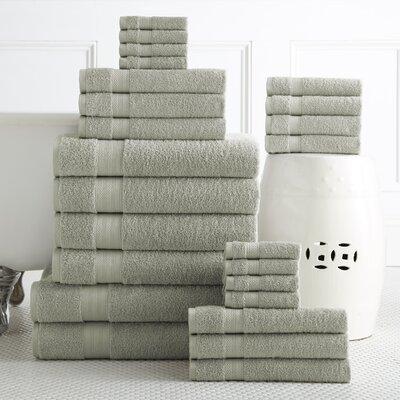 24 Piece Towel Set Color: Jade