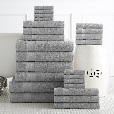 24 Piece Towel Set Color: Platinum