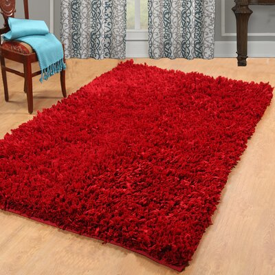 Cozy Hand-Woven Red Area Rug Rug Size: 5 x 8