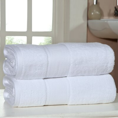 Bemadette Ultra Soft Zero Twist Bath Towels Color: White
