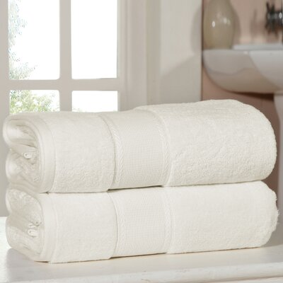Bemadette Ultra Soft Zero Twist Bath Towels Color: Ivory