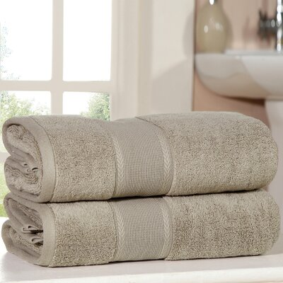 Bemadette Ultra Soft Zero Twist Bath Towels Color: Taupe