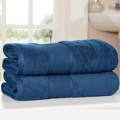Bemadette Ultra Soft Zero Twist Bath Towels Color: Navy