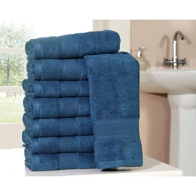 Bathilda Ultra Soft Zero Twist Hand Towels Color: Navy