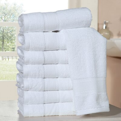 Bathilda Ultra Soft Zero Twist Hand Towels Color: White