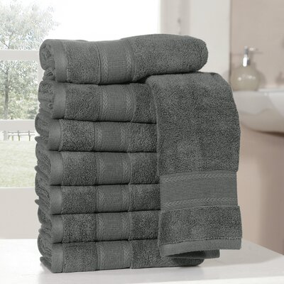 Bathilda Ultra Soft Zero Twist Hand Towels Color: Gray