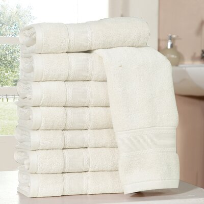 Bathilda Ultra Soft Zero Twist Hand Towels Color: Ivory