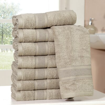 Bathilda Ultra Soft Zero Twist Hand Towels Color: Taupe