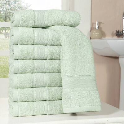 Bathilda Ultra Soft Zero Twist Hand Towels Color: Seafoam