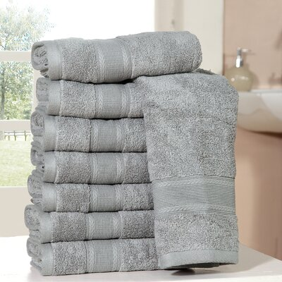 Bathilda Ultra Soft Zero Twist Hand Towels Color: Silver