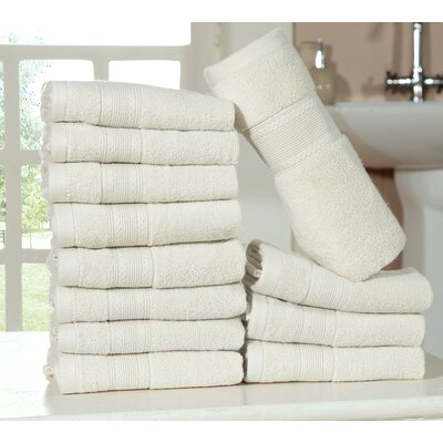 Bednarek Ultra Soft Zero Twist Washcloths Color: Ivory