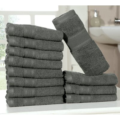 Bednarek Ultra Soft Zero Twist Washcloths Color: Gray