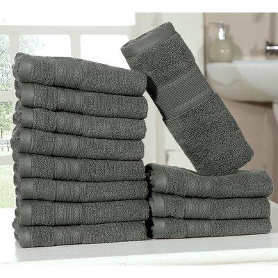 Bednarek Ultra Soft Zero Twist Washcloths Color: Gray