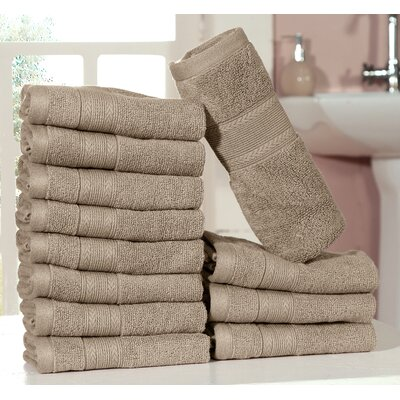 Bednarek Ultra Soft Zero Twist Washcloths Color: Taupe