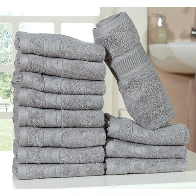 Bednarek Ultra Soft Zero Twist Washcloths Color: Silver