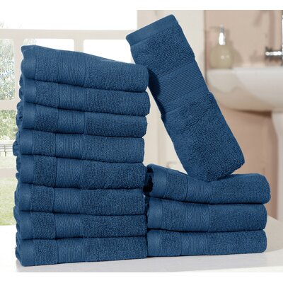 Bednarek Ultra Soft Zero Twist Washcloths Color: Navy