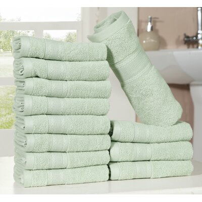 Bednarek Ultra Soft Zero Twist Washcloths Color: Seafoam