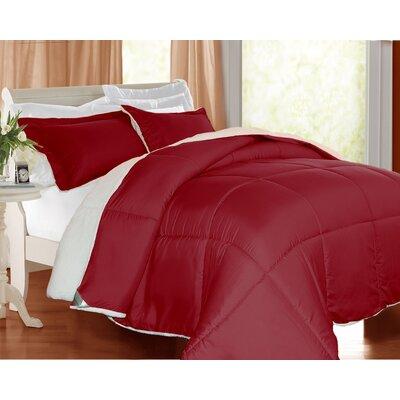 3 Piece Comforter Set Color: Brick, Size: King