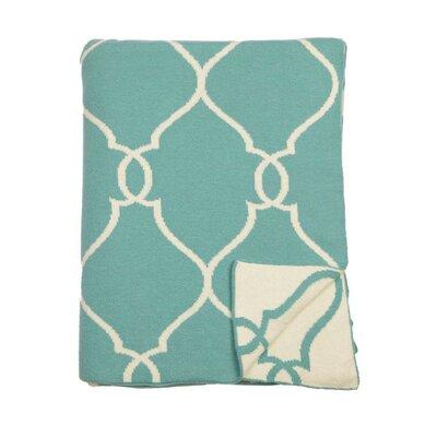 Lattice Reversible Cotton Throw Color: Beach Blue