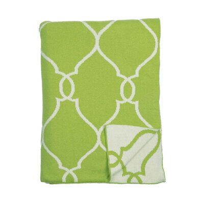 Lattice Reversible Cotton Throw Color: Green