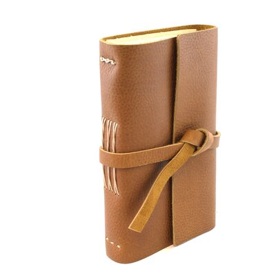 Lithyc Small Journal with Closure Color: Cognac