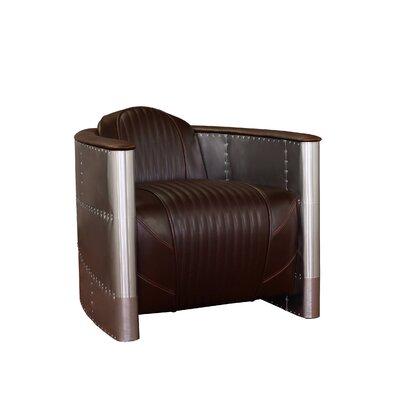 Commander Armchair Upholstery: Brown