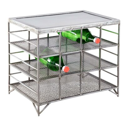 Mesh Metal 12-Bottle Floor Wine Rack