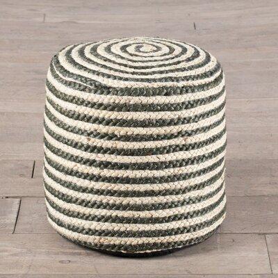 Coil Stripe Pouf Ottoman